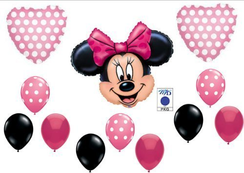 PINK MINNIE MOUSE BIRTHDAY PARTY Balloons Decorations Supplies by Anagram -