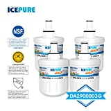 ICEPURE DA29-00003G Replacement Refrigerator Water Filter, Compatible with Samsung DA29-00003G, DA29-00003B, RSG257AARS, RFG237AARS, DA29-00003F, HAFCU1, RFG297AARS, RS22HDHPNSR, WSS-1, 4 Pack
