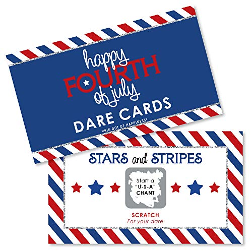 4th of July - Independence Day Party Game Scratch Off Dare Cards - 22 -