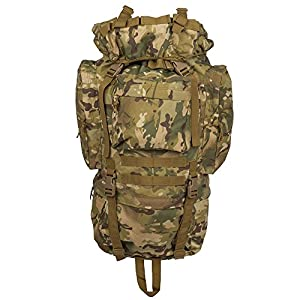 Military Tactical Trial Backpack, Army Bag Waterproof Bag Out Bag Backpacks Outdoor Hiking Camping Trekking Hunting Bag (CAMO)