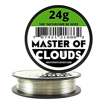 Nichrome 80 100 ft 24 gauge awg resistance wire 051mm 24g 100 nichrome 80 100 ft 24 gauge awg resistance wire 051mm 24g 100 greentooth Gallery