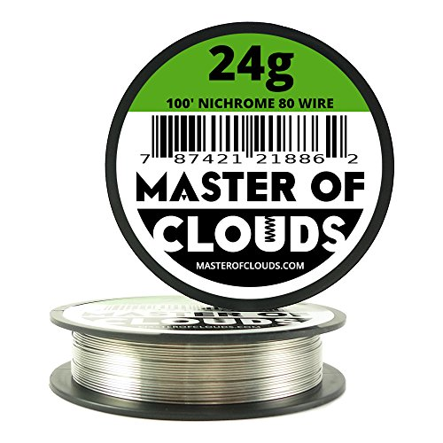 Nichrome 80 - 100 ft 24 Gauge AWG Resistance Wire 0.51mm 24g 100' (24 G Kanthal Wire)