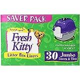 Fresh Kitty Litter Box Liners, Jumbo with Ties (Pack of 30)