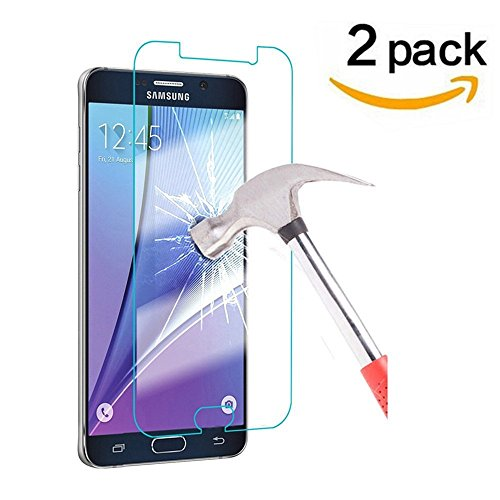 Samsung Galaxy Express 3 Tempered Glass Screen Protector, [ 2 Pack ] Asstar 0.3mm 9H Hardness 2.5D Anti-Scratch, Anti-Fingerprint, Bubble Free, Lifetime Replacement Warranty (2 - Glasses Blue Chanel