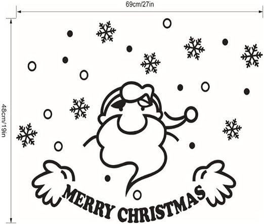 LWY HOME Etiqueta de la Ventana Navidad Muñeco de Nieve Extraíble Inicio Vinilo Ventana Pegatinas de Pared Decoración para el hogar: Amazon.es: Hogar