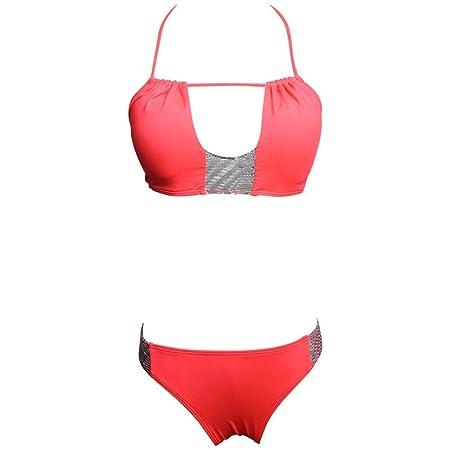 Aihifly Bikini Ajustable de Encaje Sexy para Mujer, Rojo ...
