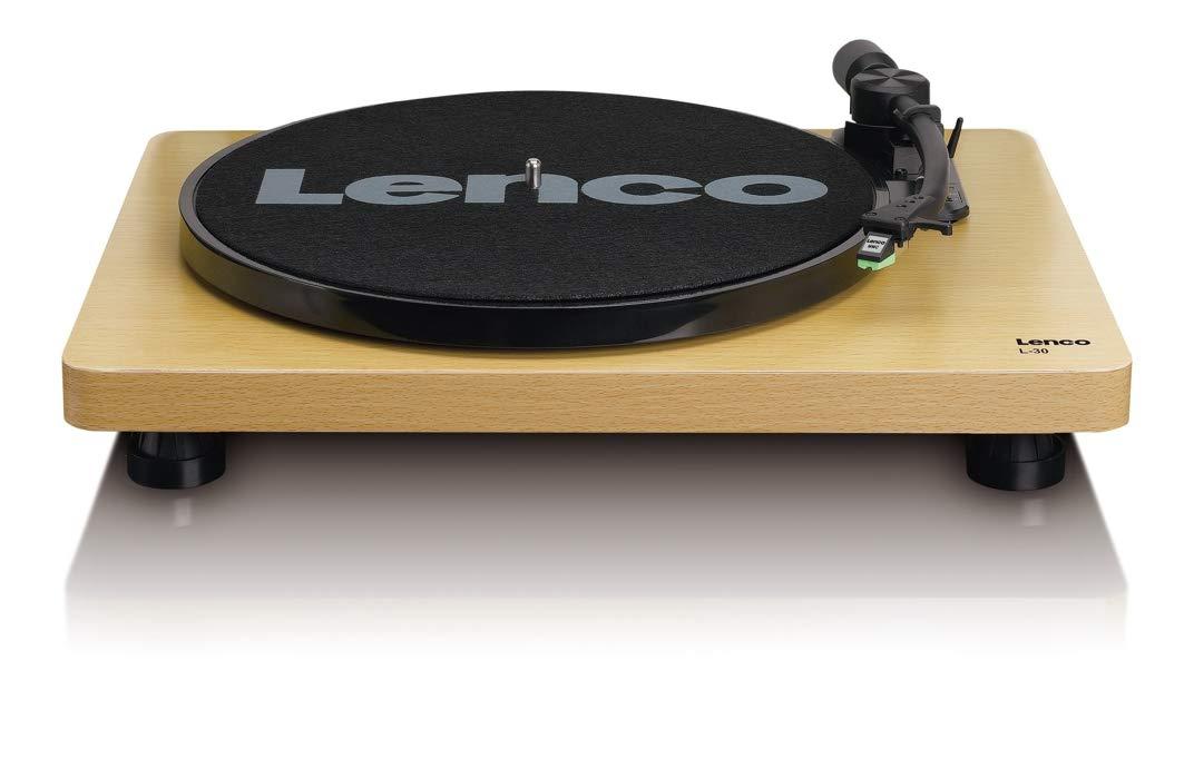Lenco Plattenspieler L-30 Holzgeh/äuse Vinyl Player  mit USB-Anschluss zum Digitalisieren von Schallplatten