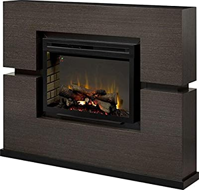 DIMPLEX Electric Fireplace, TV Stand, Media Console, Space Heater and Entertainment Center with Natural Log Set in Rift Grey Finish - Linwood #GDS33HL-1310RG