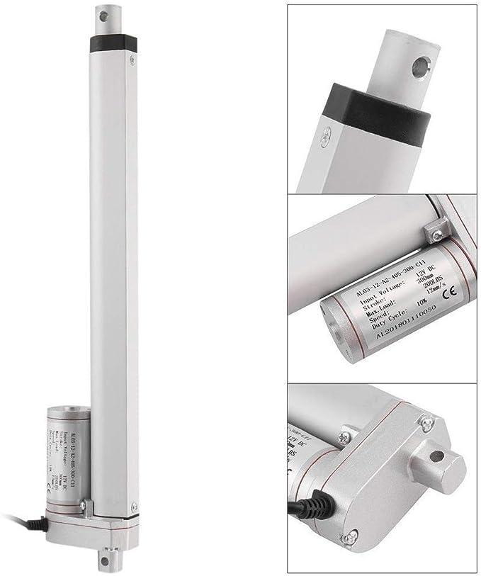 KKmoon 1000N 50mm Actionneur Lin/éaire /Électrique 12V DC Contr/ôleur de Mouvement Lin/éaire de Moteur avec Interrupteur de Fin de Course JS-TGZ-U1