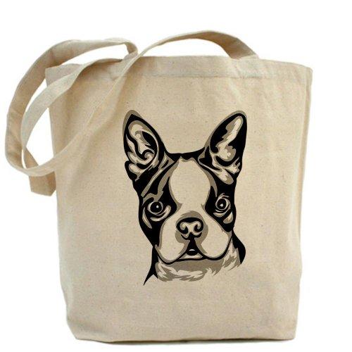 CafePress–Boston Terrier–Borsa di tela naturale, panno borsa per la spesa