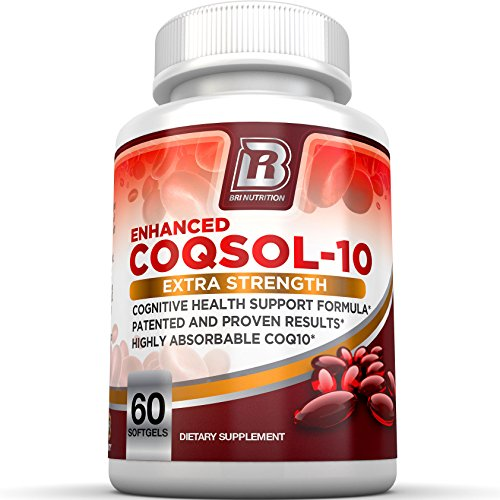 100% Natural 200 Tabs (BRI Nutrition COQ10 Ubiquinone - 2.6x Higher Total Coenzyme Q10 COQSOL® Absorption than normal COQ10 - 100mg Maximum Strength Supplement - 60 Day Supply 60)