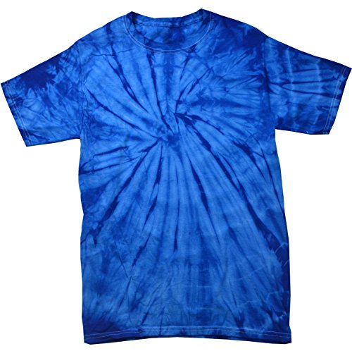 Colortone Tie Dye T-Shirt LG Spider Royal ()