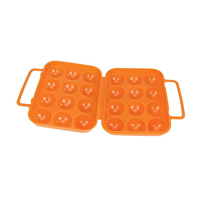 Huevera de plástico plegable, para 12 huevos, color naranja ...