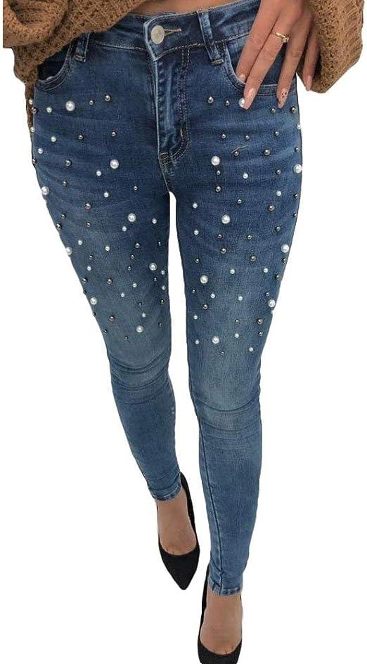 Hx Fashion Pantalones De Mezclilla Damas Mujer Skinny Jeans Moda Slim Fit Basic Pantalones Lapiz Mediados De Cintura Pantalones Vaqueros De Mezclilla Pantalones Moda Callejera Ropa Amazon Es Ropa Y Accesorios