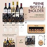 Wall Mounted Wine Rack - Bottle & Glass Holder