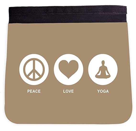 Amazon Peace Love Yoga Brown Color Design Front Interchangeable