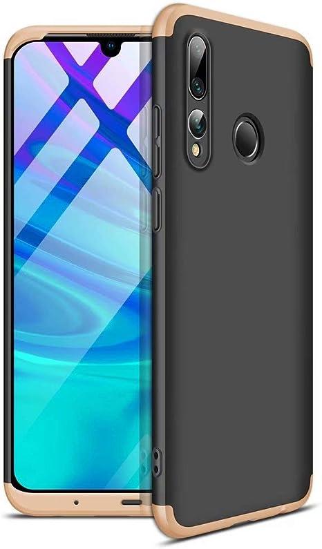AILZH cáscara para Funda Huawei P Smart Plus 2019/Huawei Honor 20 Lite Carcasa 360 Grados PC Duro Funda Anti-Shock Parachoques Shock Protection Caso Mate Bumper Antichoque Case Cover(Dorado Negro): Amazon.es: Electrónica