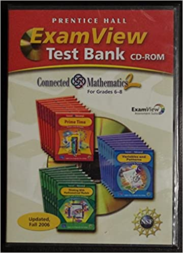 Exam view test bank grade 6 8 connected mathematics 2 prentice exam view test bank grade 6 8 connected mathematics 2 prentice hall 9780131656109 amazon books fandeluxe Image collections