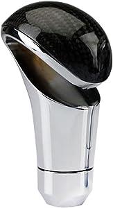 Sakali Universal Carbon Fiber Manual or Automatic Car Gear Shift Knob Shifter Lever Black