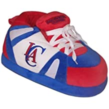 LAC01-3 - Los Angeles Clippers - Large - Happy Feet Mens and Womens NBA Slippers