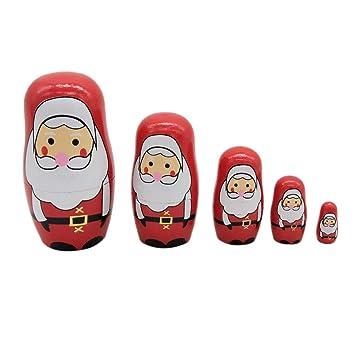 Geschenke Russland Weihnachten.Toyvian 5 Stücke Weihnachten Matroschka Matryoshka Matrjoschka