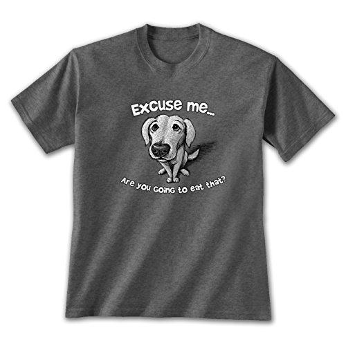 Earth Sun Moon Excuse Me Dog - Med T-shirt Dark Heather, Cute Animal Themed, Novelty Apparel - Dog Themed Clothing