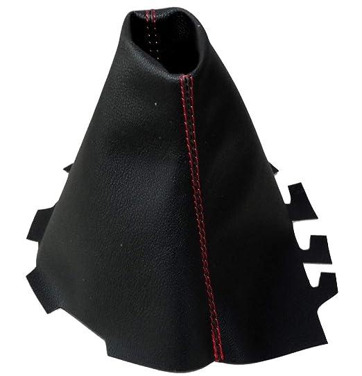 negro y rojo AERZETIX Funda para palanca de cambios de piel sint/ética con costuras de colores variables