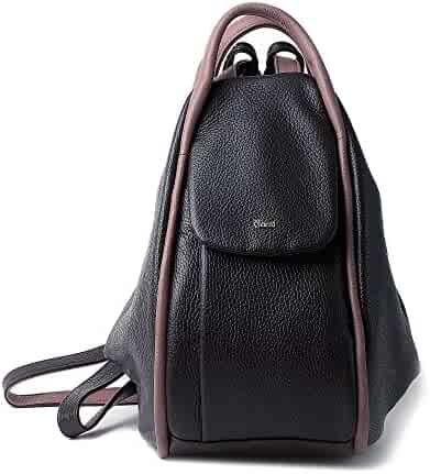 BRUNO ROSSI Italian Leather Full grain leather women s backpack purse -  FLORA 7ac0f5cb87309