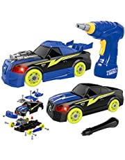 Take Apart Racing Car, Stem Toys 26 Pieces Assembly Car Toys With Drill Tool, Lights And Sounds, Christmas Gifts For Kids