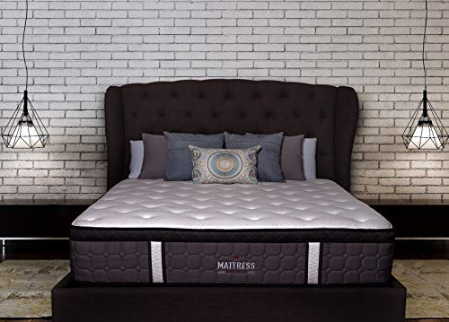 Mattress America Frost 13 Inch Hybrid Pocket Coil Pillow Top Mattress Gel Infused Memory Foam (Queen)