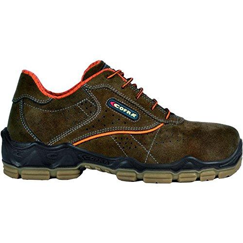 """Cofra 20021-001.W45 Chaussures de sécurité """"Morandi S1 P"""" SRC Taille 45 Marron"""
