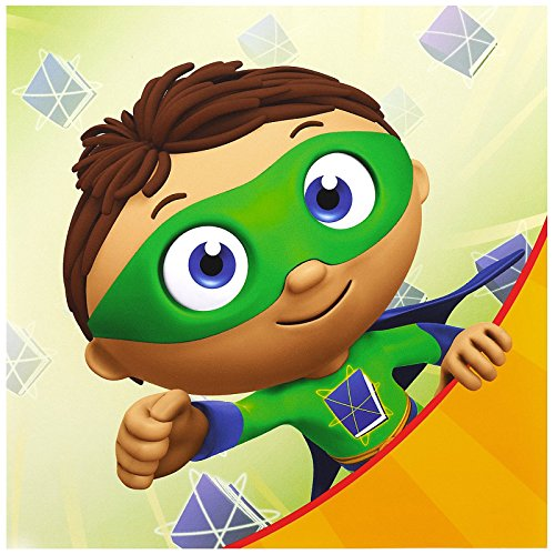 [Super Why Childrens Birthday Party Supplies - Lunch Napkins (20)] (Comicbook Costumes)