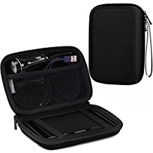 "MoKo 7-Inch GPS Carrying Case, Portable Hard Shell Protective Pouch Storage Bag for Car GPS Navigator Garmin / Tomtom / Magellan with 7"" Display - Black"