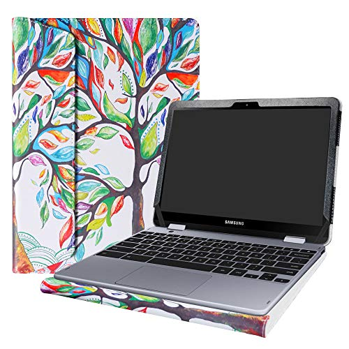 Alapmk Protective Case Cover For 12.2 Samsung Chromebook Plus V2 XE521QAB-K01US Laptop[Warning:Not fit Chromebook Pro XE510C24 XE510C25/Chromebook Plus XE513C24],Love Tree