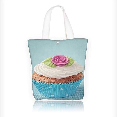 Amazon.com: Bolso de lona para mujer, diseño de cubo de ...