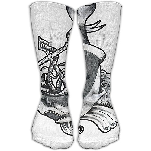 Dark Anchor Shark Women & Men Socks Soccer Sport Tube Stockings Length 30cm]()