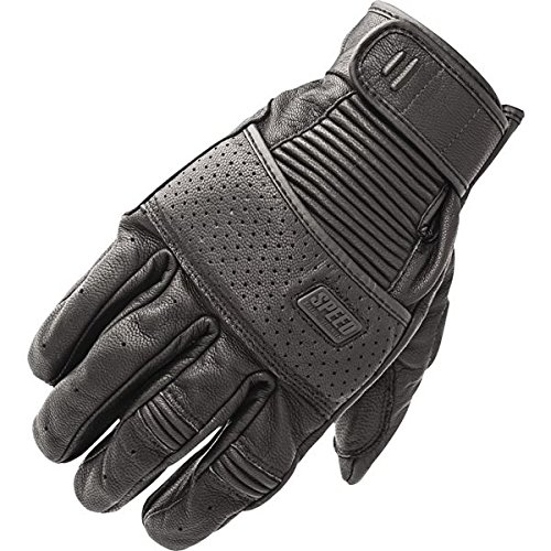 - Speed and Strength Cruise Missile Black Leather Gloves, L