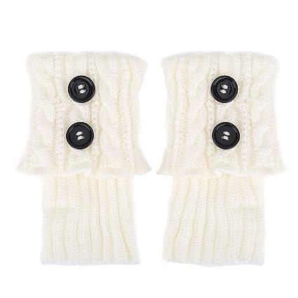 Delaman Botines para Botas Short Women Crochet Boots Cuffs ...