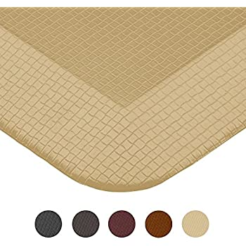 Royal Anti-Fatigue Comfort Mat - 20 in x 39 in x 3/4 in - Ergonomic Multi Surface, Non-Slip - Waterproof All-Purpose Luxurious Comfort - For Kitchen, Bathroom or Workstations - Sand Beige
