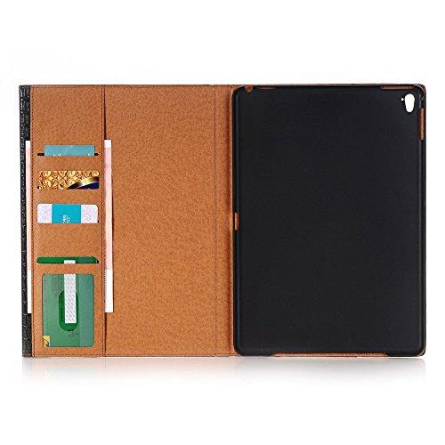 iPad Pro 12.9 Folio Case,SAVYOU Alligator Fashion Design Cover Folio Stand Case with Card Slots Function for 12.9 inch iPad Pro 2015 ,Black by SAVYOU (Image #1)