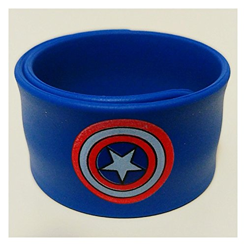 Set of 9 Superhero Slap Bracelets Kid's Party Supplies Favors Boy's and Girl's Wristband Accessories Wrist Strap