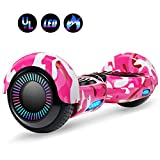 Felimoda 6.5 Inch Self Balancing Scooter Hoverboard UL2272 Certified Dual Motors w/Led Light Charger for Child and Adult