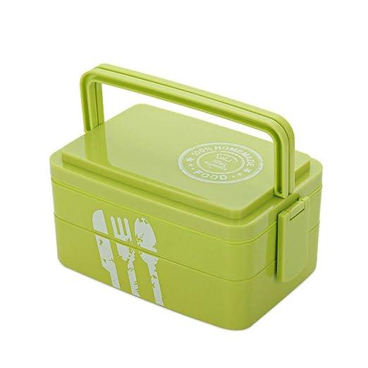 Caja de almuerzo portátil saludable Capas de microondas de ...