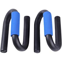 SYGA 1 Pair Push Up Bars Stand Press Pull with Antislip Foam Ergonomic Handles for Building Muscles Exercise Tool(Blue)