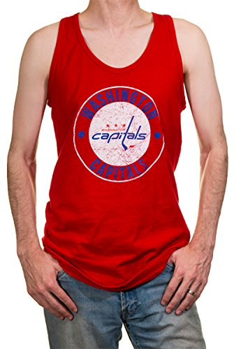 NHL Men s Washington Capitals Team Logo Tank Top (Small) 8bb4d8f0c