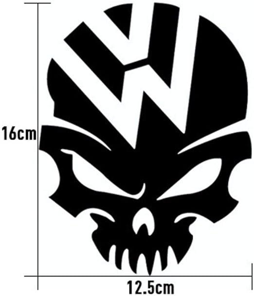 Hydz 2 Colores cráneo Logo Pegatinas de Coche para Volkswagen VW ...
