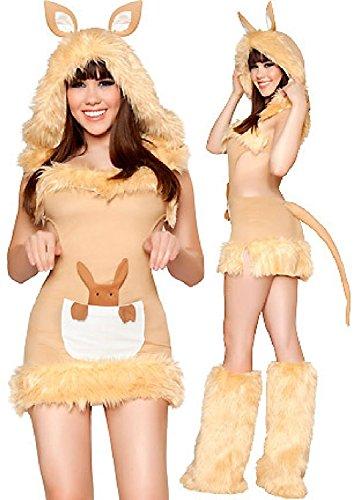 Abendkleid Känguru Pelz Erwachsenes Kostüm Gelb w84ZXnaq