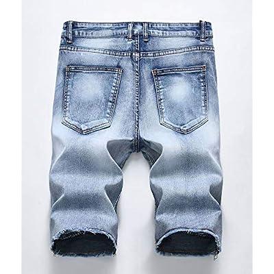 Atditama Men's Ripped Destroyed Distressed Casual Denim Shorts Cotton Bermuda Short Pants at Amazon Men's Clothing store
