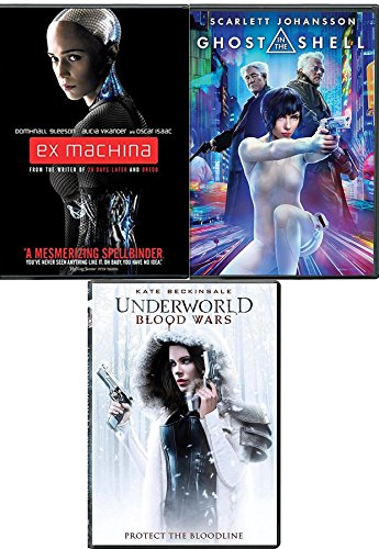 Sci-Fi Women Ghost in the Shell + Underworld Blood Wars & Ex-Machina Triple Movie Feature