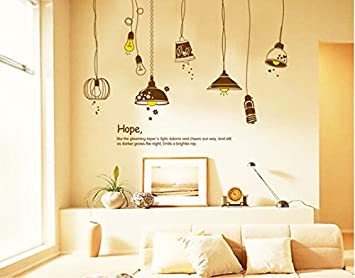 Generic Cute Old Electric Light Bulb Background Decorative Wall Painting Wall Sticker Home Home Decor Vinyl Bulb Amazon In Home Kitchen